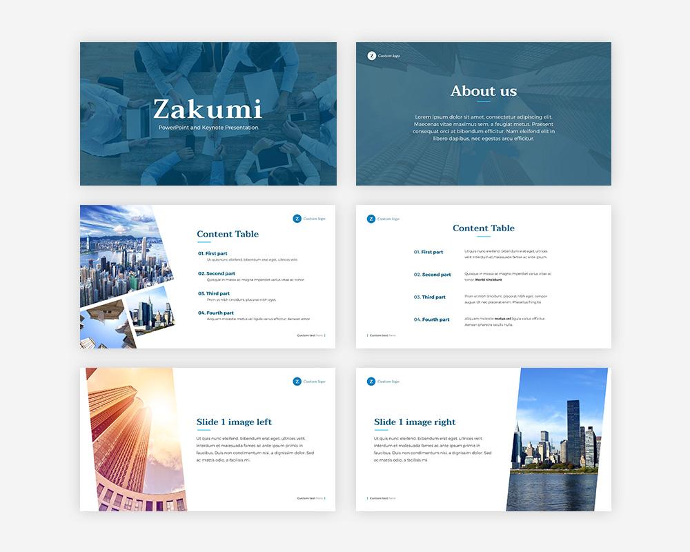 Zakumi - Plantilla para presentación simple y elegante en Disuto